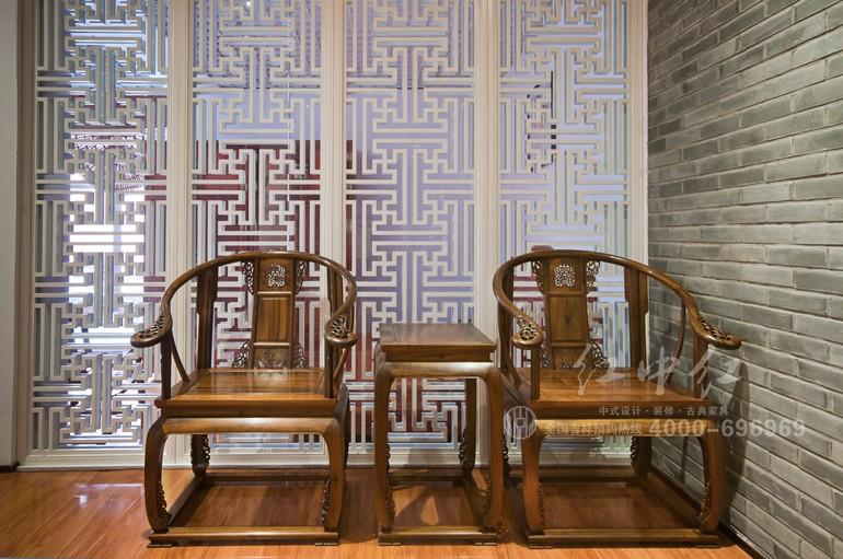 红中红中式设计之中堂设计效果图欣赏图片